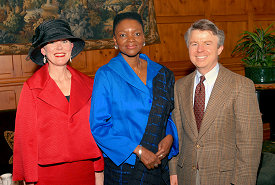 Nancy & Dennis with Baroness Valerie Amos